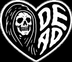 Grim Reaper Dead Heart Black Sticker