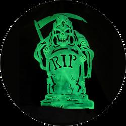 Grim Reaper Glows Sticker