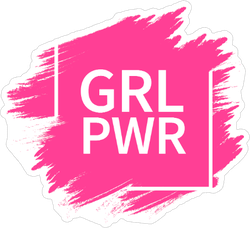 Grl Power Slogan Sticker