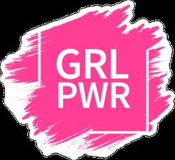 Grl Power Slogan Sticker