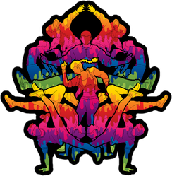 Group Of People In A Street Dance Team Sticker