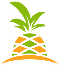 Growing Pineapple Logo Sticker