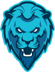 Growling Lion Mascot Sticker