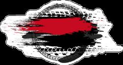 Grunge Abstract Speeding Car Sticker