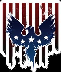 Grunge American Eagle Sticker