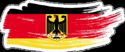 Grunge Brush Stroke With Germany National Flag Sticker