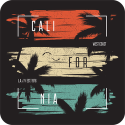 Grunge California Palm Trees Sticker
