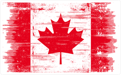 Grunge Canadian Flag Sticker