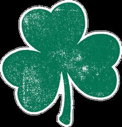 Grunge Clover Shamrock Leaf Sticker