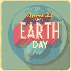Grunge Earth Day April 22 Sticker