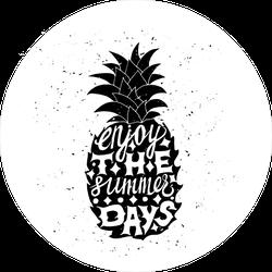 Grunge Enjoy The Summer Days Pineapple Sticker