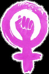 Grunge Feminism Protest Sticker