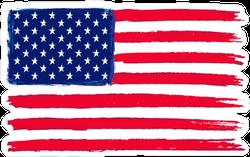 Grunge Flag Of USA Sticker