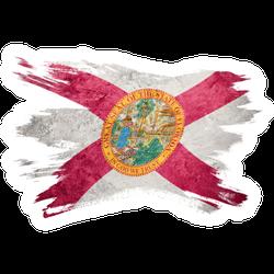 Grunge Florida State Flag Sticker