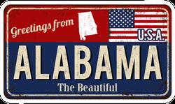 Grunge Greetings From Alabama Sticker