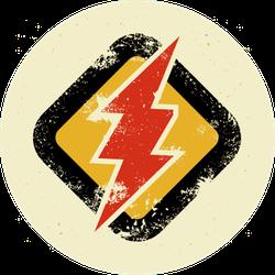 Grunge Lighting Sign Sticker