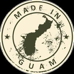 Grunge Made In Guam Sticker