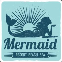 Grunge Mermaid Resort Sticker