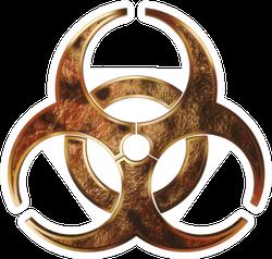 Grunge Metal Biohazard Symbol Sticker