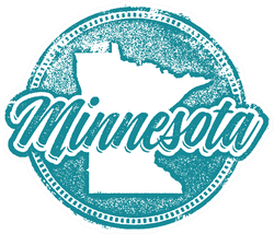 Grunge Minnesota Sticker