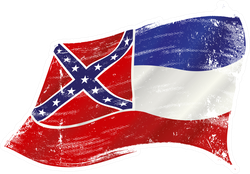Grunge Mississippi Flag Sticker
