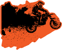 Grunge Motorcycle Sticker