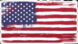 Grunge Painted USA Flag Sticker