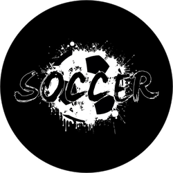 Grunge Soccer Text Sticker
