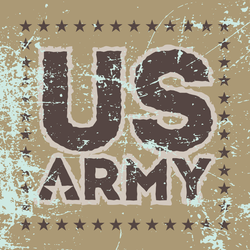 Grunge US Army Sign Sticker