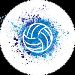 Grunge Volleyball Splatter Sticker