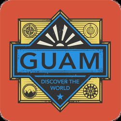 Guam Discover The World Sticker