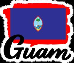 Guam Flag And Name Sticker