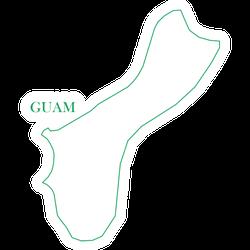 Guam Green Line Map Sticker