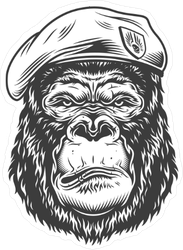 Guerrilla Gorilla Sticker