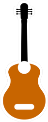 Guitar Flat Icon Sticker