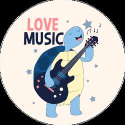 Guitarist Turtle Sticker