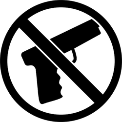 Gun Ban Icon Sticker