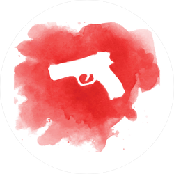 Gun in Crime Scene Sticker
