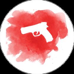 Gun in Crime Scene Sticker