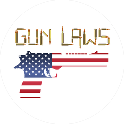 Gun Laws American Flag Sticker