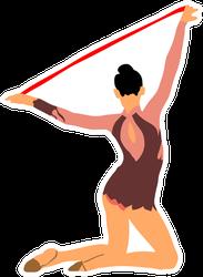 Gymnastic Woman Sticker