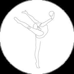 Gymnastics One Line Flexibility Sticker