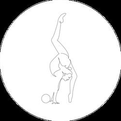Gymnastics One Line Sticker