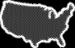 Halftone Circle USA Map Sticker