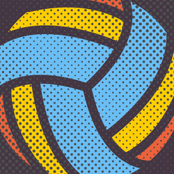 Halftone Volleyball Pattern Sticker