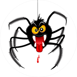 Halloween Spider Spooky Cartoon Character Sticker