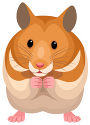 Hamster Illustration Sticker
