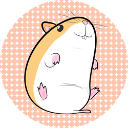 Hamster On Cute Background Sticker