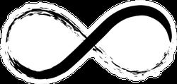 Hand Draw Grunge Symbol Of Infinity Illustration Sticker