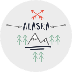 Hand Drawn Alaska Elements Sticker